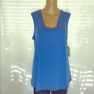 Dana Buchanan blue sleeveless top